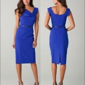 Black Halo Jackie Sleeveless Cobalt Dress Sz 8